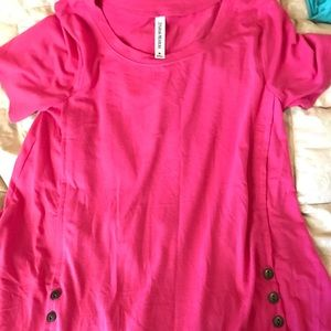 Women's bright pink top